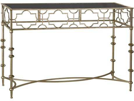 Sterling Moorish Antique Soft Gold 47''L x 16''W Rectangular Console Table