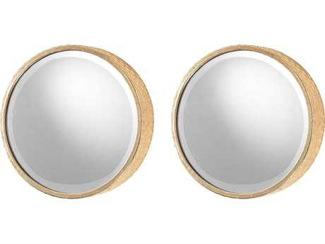 Sterling Honeycomb Gold 12'' Wide Wall Mirror (Two Piece Set)