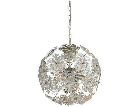 Sterling Haugh Contemporary Floral Orb Pendant