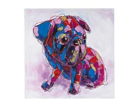 Sterling Bold Puppy I Oversized Oil On Canvas Wall Art