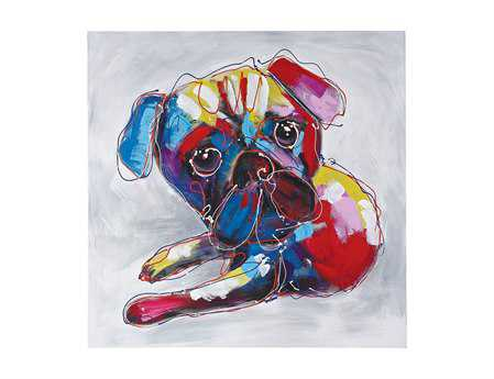 Sterling Bold Puppy II Oversized Oil On Canvas Wall Art