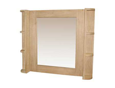 Sterling 28 x 24 Elegance Mirror with Shelves Wall Mirror