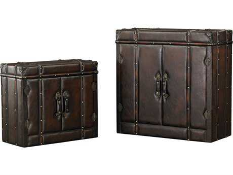 Sterling Travelers Dark Tan Storage Trunk (Two Piece Set)