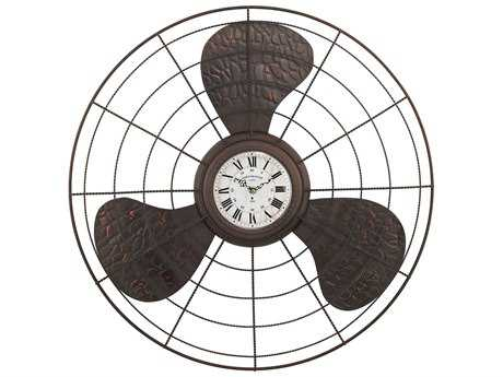 Sterling Bronze Antique Fan Wall Clock