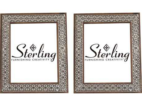 Sterling Pierced Metal Picture Frames (Set of 2)