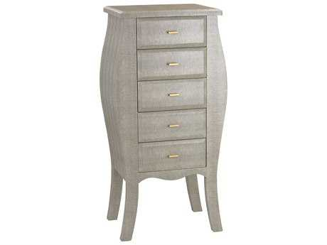 Sterling Shagreen Grey Faux with Gold Chest of Drawers