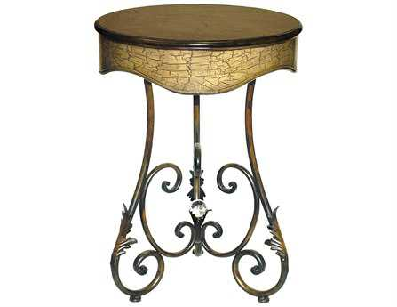 Sterling Round Curled Leaf Center Piece 22 Dia Foyer Table