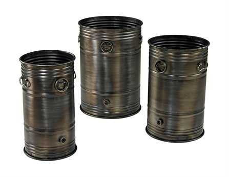 Sterling Industrial Oil Drum Plant Stands (Three Piece Set)