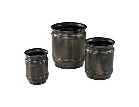 Sterling Oxidized Finish Plant Stands (Three Piece Set)