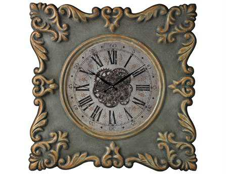 Sterling Nahant Antique Reproducion Frame with Industrial Center Print Clock