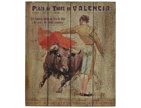 Sterling Valencia Plaza De Toros Hand Paint On Wood Wall Art
