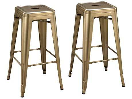 Sterling Acento Antique Gold Side Bar Stool