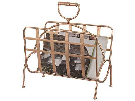 Sterling Strapped Rose Gold Magazine Rack