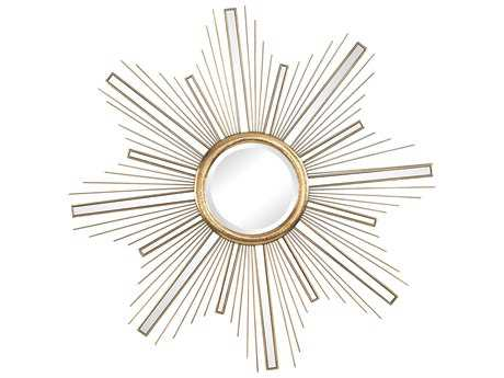 Sterling Belize Gold 36'' Wide Round Wall Mirror