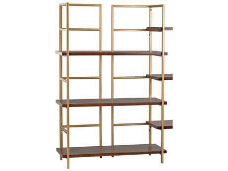 Sterling Balart Walnut & Gold 29'' Long Bookshelves
