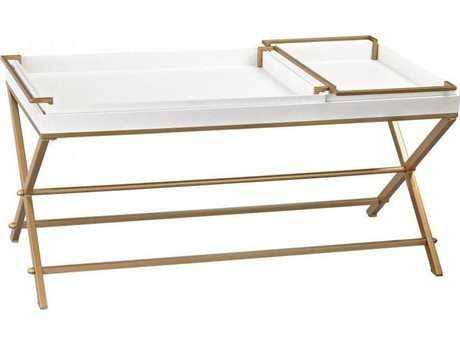 Sterling Gold and White 48 x 23 Coffee Table