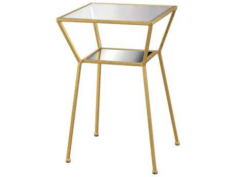 Sterling Magnoux Gold 16'' Wide Square End Table