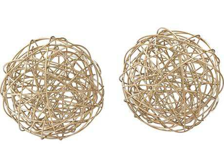 Sterling Atomos Gold Tussle Balls (Two Piece Set)