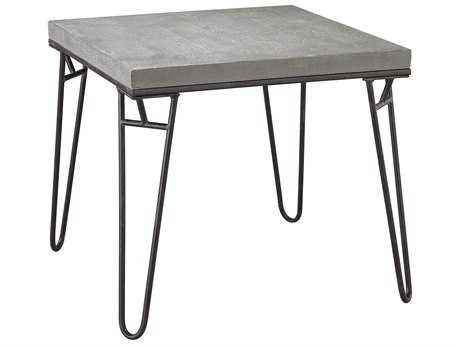 Sterling Montparnasse Aged Iron & Concrete 22'' Wide Square Coffee Table