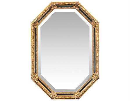 Sterling Inlay Octagon 30 x 47 Gold Leaf Wall Mirror