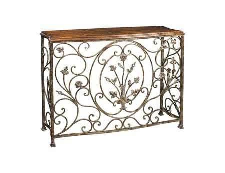 Sterling Floral Scroll 44 x 13 Console Table
