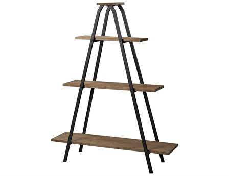 Sterling Wooden A Line Shelves with Metal Frame