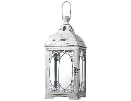 Sterling White Hurricane Lantern Candle Holder