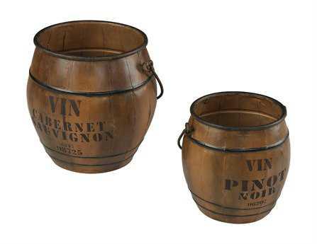 Sterling Wine Culture Bins (Two Piece Set) Storage Bin