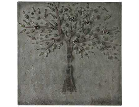 Sterling Cherry Tree In Winter White Wall Art