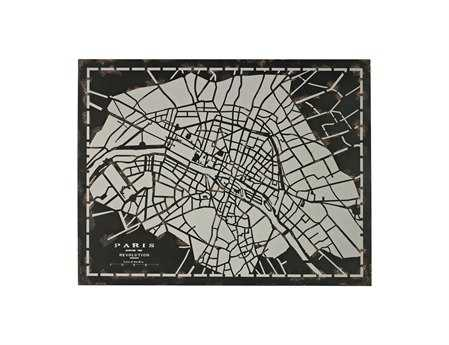 Sterling City Map Laser Cut Map Of Paris Circa 1790 Wall Art