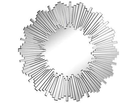 Sterling Clavier 43'' Round Clear Wall Mirror
