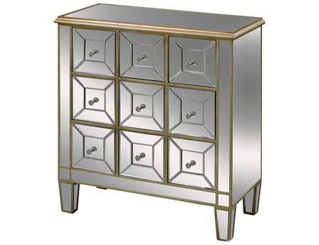 Sterling Roma Gold & Mirrored Chest of Drawers