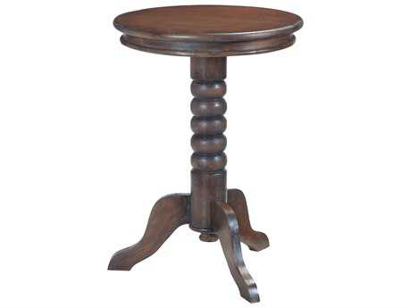 Sterling Turned Trileg Heritage Grey Stain with White Wash 20''Wide Round Pedestal Table