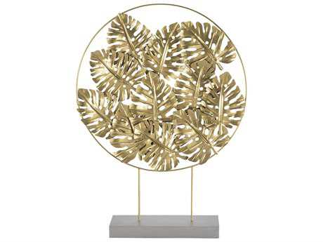 Sterling Quintus Gold Foliage Sculpture