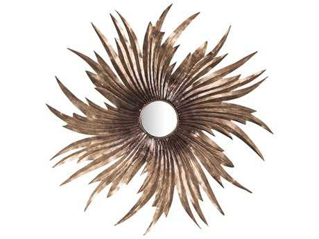 Sterling Louise 31.5'' Round Battery Bronze Wall Mirror