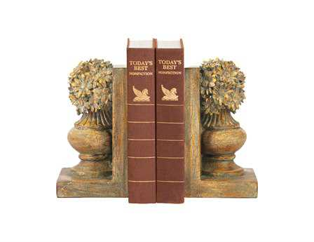 Sterling Pair Of Floral Urn Book Ends