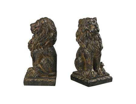 Sterling Lion Book Ends