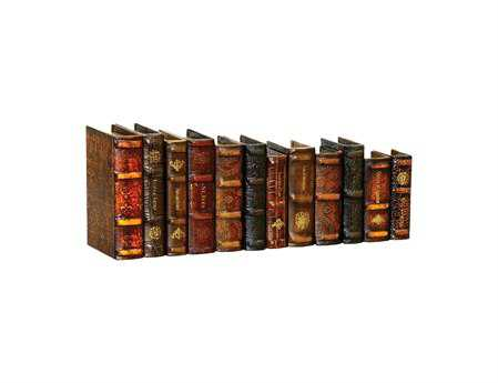Sterling Leatherbound Books (Set of 12)