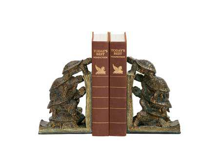 Sterling Pair Turtle Tower Book Ends