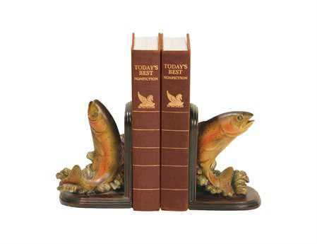 Sterling Pair Rainbow Trout Book Ends