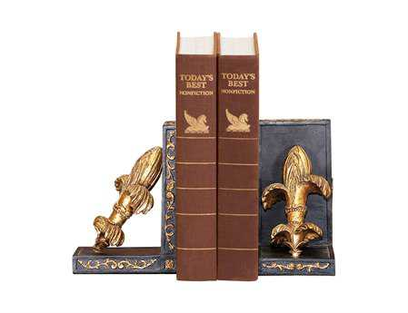 Sterling Pair French Fleur Book Ends