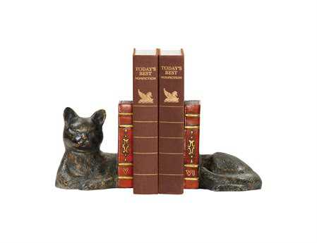 Sterling Pair Cat Napping Book Ends