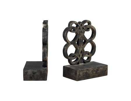 Sterling Durand Bronze Finsih Book Ends