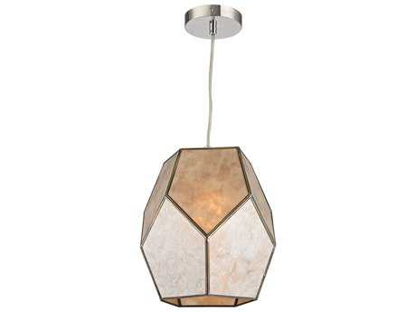 Sterling Therese Natural Silver & Gold 10'' Wide Pendant Light
