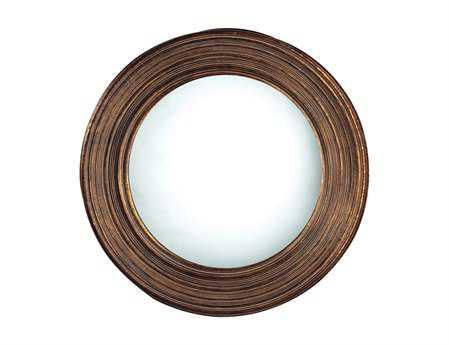 Sterling Oswego 30 Round Bluffort Antique Copper Wall Mirror