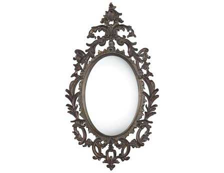Sterling Berkeley 29 x 51 Fawnfield Distressed Bronze Wall Mirror