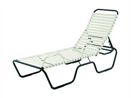 Suncoast Sanibel Strap Aluminum Side Adjustable Chaise Lounge