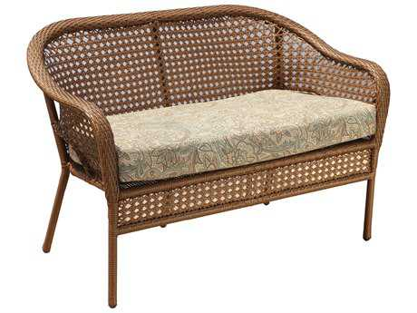 Suncoast Kona Wicker Cushion Arm Loveseat