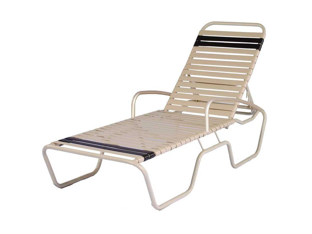 Suncoast sanibel strap aluminum arm adjustable chaise for Arm chaise lounge