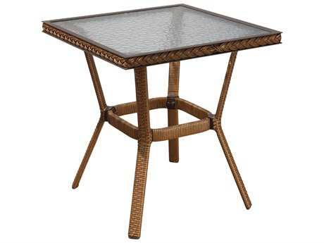 Suncoast Kona Wicker 22 Rectangular Glass End Table